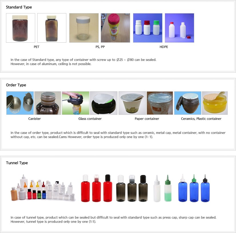 Induction Sealing-Handheld Product Application